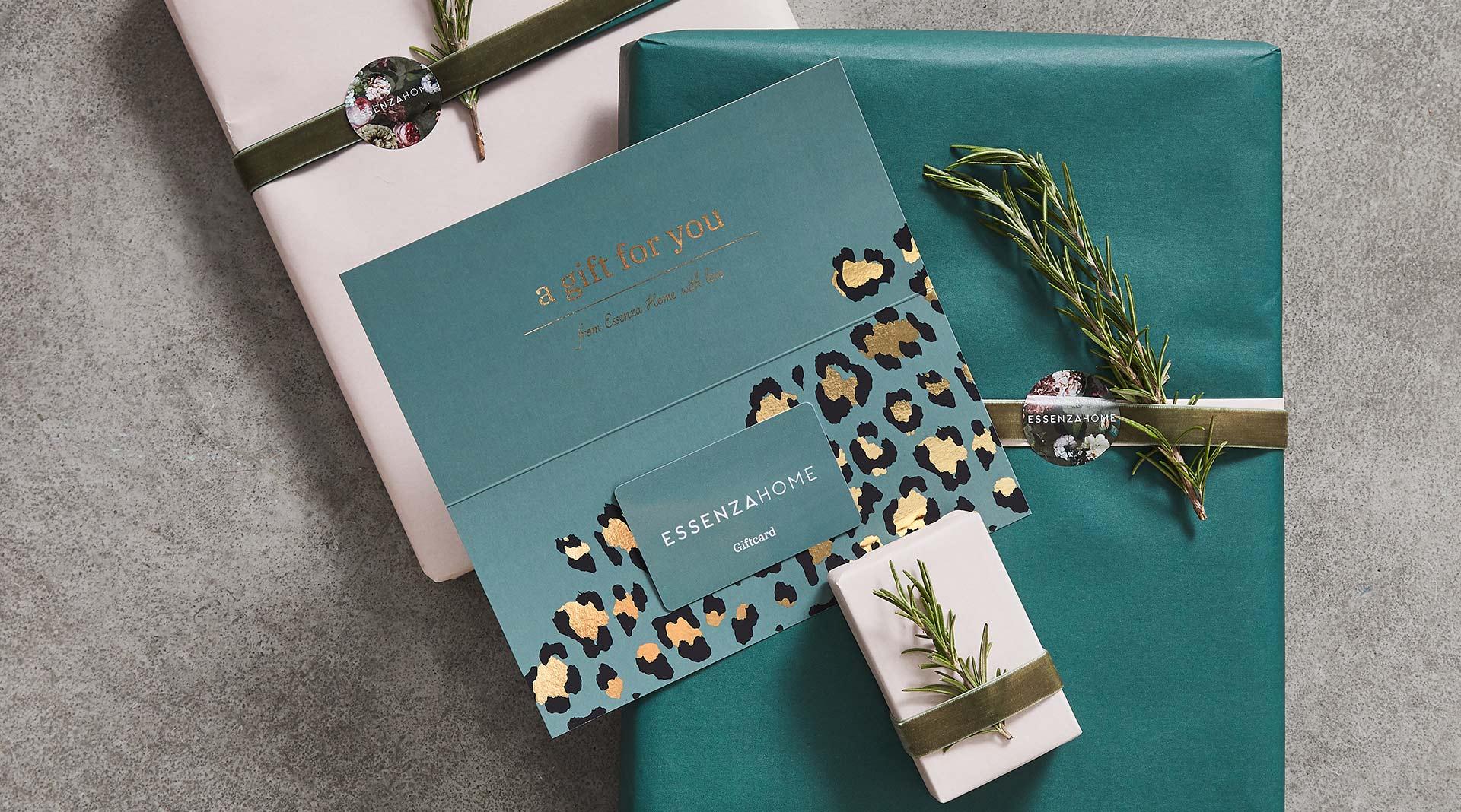 Geef onze cadeaukaart: de ESSENZA HOME Giftcard
