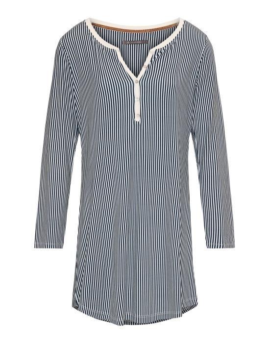 ESSENZA Acacia Striped Indigo blauw Nachtjapon XS