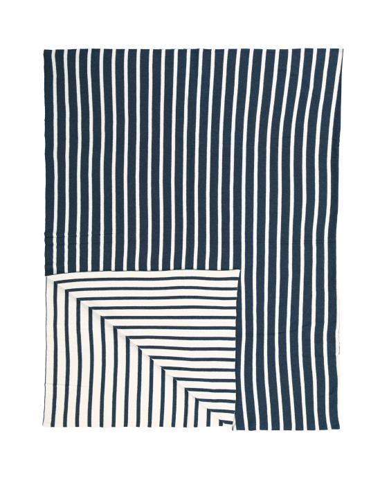Marc O'Polo Arre Blauw Plaid 130 x 170 cm