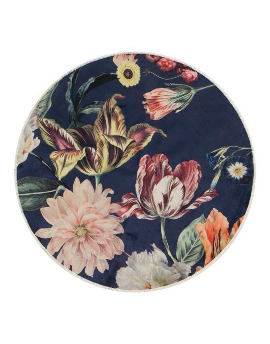 ESSENZA Filou Finest Donkerblauw Vloerkleed 90 cm