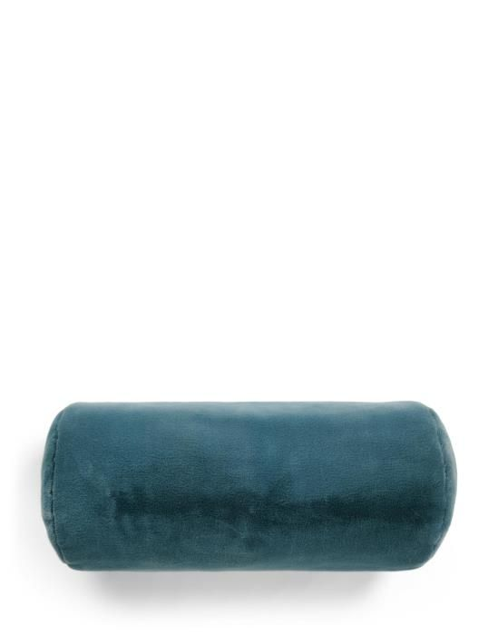 ESSENZA Furry Denim Blue Rolkussen 22 x 50 cm