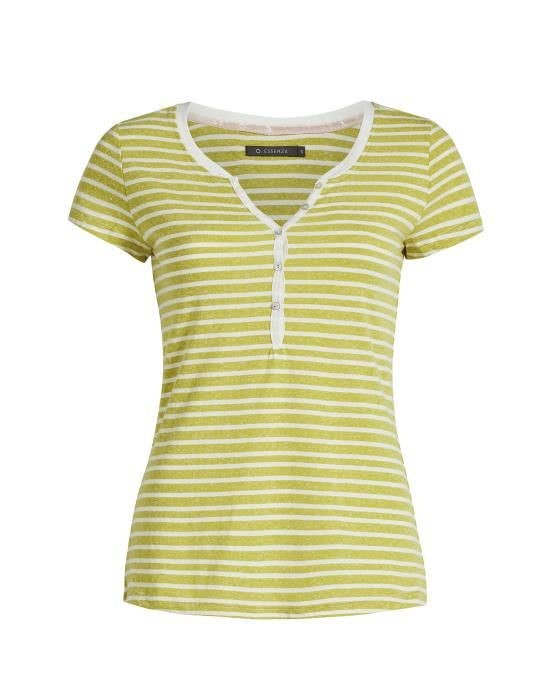 ESSENZA Jimmies Stripe Geel Top korte mouw XS