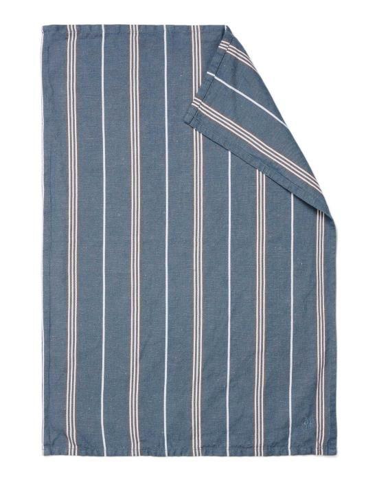 Marc O'Polo Jona Smoke blue Theedoek 50 x 70 cm