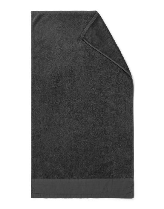 Marc O'Polo Linan Antraciet Handdoek 50 x 100 cm