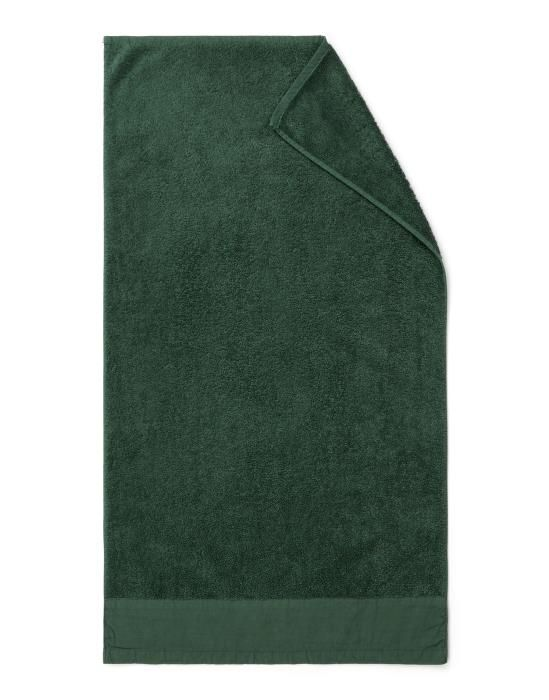 Marc O'Polo Linan Donkergroen Handdoek 70 x 140 cm