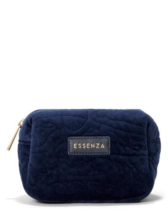 ESSENZA Lucy Velvet Indigo blue Make-up Bag