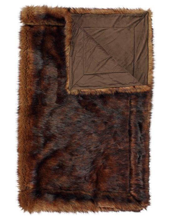 ESSENZA Luma Bruin Plaid 130 x 170 cm