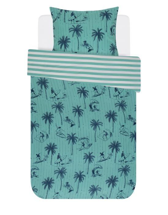 Covers & Co Miko Turquoise Dekbedovertrekset 140 x 220 cm