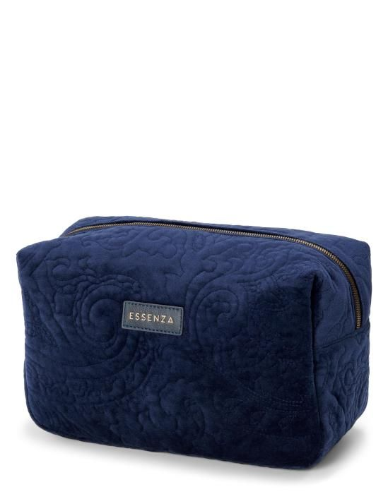ESSENZA Pepper Velvet Indigo blauw Make-up tas Large