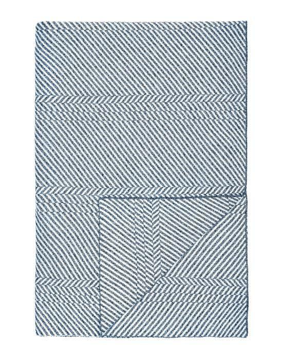 Marc O'Polo Rik Blauw Plaid 130 x 170 cm