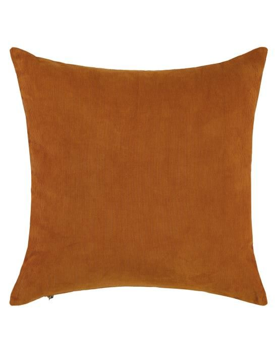 ESSENZA Riv Leather brown Sierkussen 45 x 45 cm