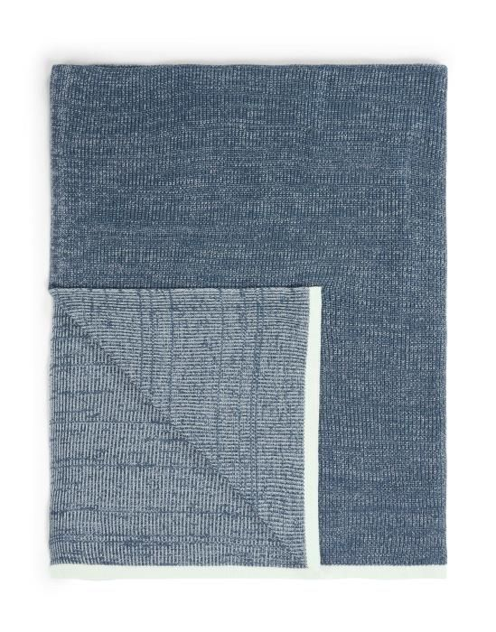 Marc O'Polo Rivar Misty Blue Plaid 130 x 170 cm