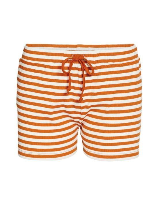 ESSENZA Roques Rib Stripe Leather brown Korte broek XS