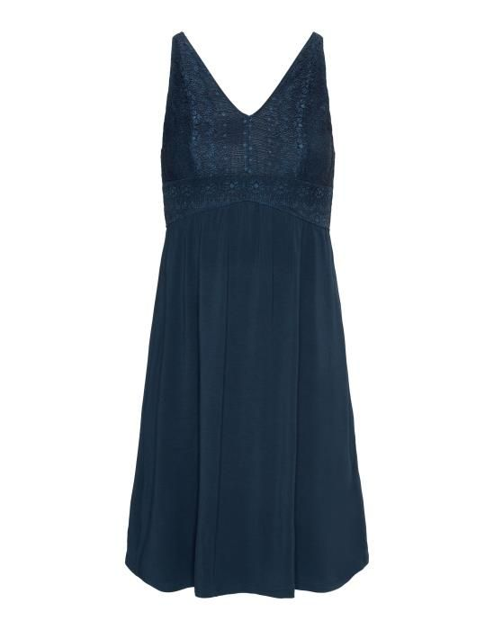 ESSENZA Sarah Uni Indigo blauw Nachtjapon XS
