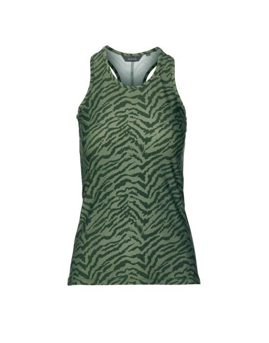 ESSENZA Sari Belen Forest green Top mouwloos M