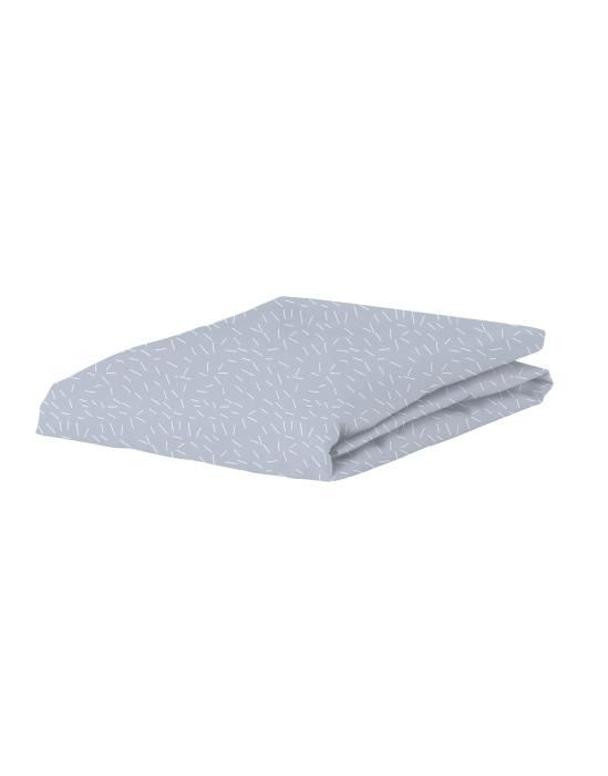 Covers & Co Sprinkle Party Blauw Hoeslaken 90 x 200 cm