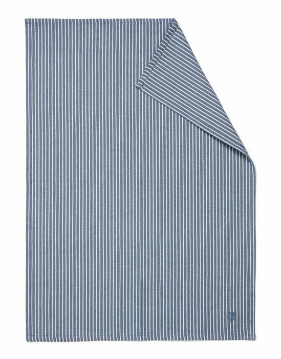 Marc O'Polo Tentstra Smoke blue Theedoek 50 x 70 cm