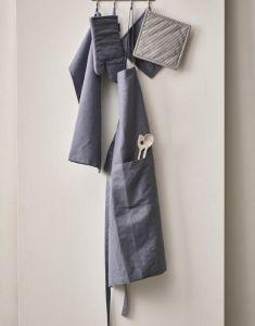 Marc O'Polo Akalla Smoke Blue Schürze 80 x 95 cm