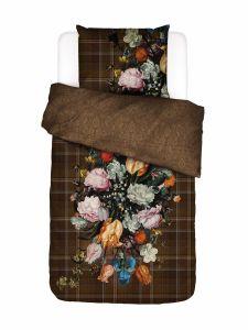 ESSENZA Beautiful Bouquet Bruin Dekbedovertrekset 140 x 220 cm