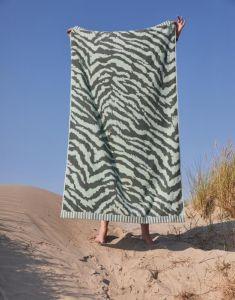 ESSENZA Belen Lauriergroen Strandlaken 100 x 180 cm