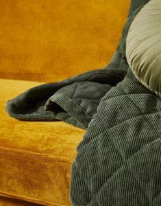 ESSENZA Billie Dunkelgrün Tagesdecke 180 x 265 cm