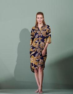 ESSENZA Blair Gwyneth Nightblue Nachthemd 3/4 mouw M