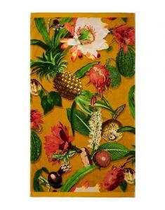 ESSENZA Catherine Senfgelb Strandhandtuch 100 x 180 cm