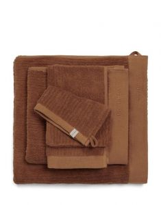 ESSENZA Connect Organic Uni Leather brown Handdoek 60 x 110 cm