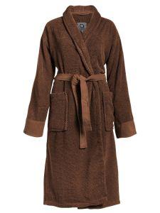 ESSENZA Connect Organic Uni Leather brown Badjas S