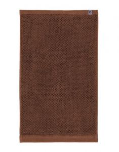 ESSENZA Connect Organic Uni Leather brown Handdoek 50 x 100 cm