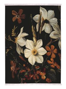 ESSENZA Daffodils Reunited Zwart Vloerkleed 120 x 180 cm