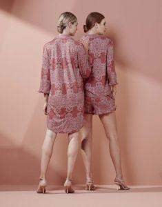 ESSENZA Delphine Giulia Rose Pyjamatop 3/4 mouw L