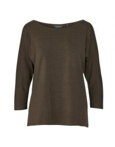 ESSENZA Donna Uni Donkerbruin Top 3/4 mouw S