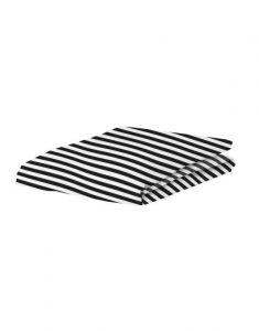 Covers & Co Earned My Stripes Schwarz Spannbettlaken 160 x 200 cm