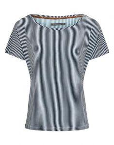 ESSENZA Ellen Striped Indigo Blue Top Kurzarm XXL