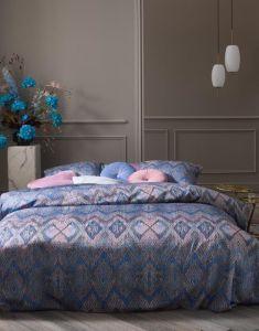 ESSENZA Fabienne Blue granite Dekbedovertrekset 260 x 220 cm