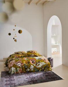 ESSENZA Filou Olive Dekbedovertrekset 200 x 220 cm
