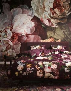 ESSENZA Fleur Burgundy Dekbedovertrekset 240 x 220 cm