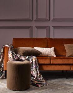 ESSENZA Fleur Chocolate Plaid 135 x 170 cm