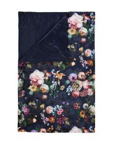 ESSENZA Fleur Nightblue Plaid 135 x 170 cm