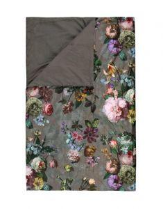ESSENZA Fleur Taupe Plaid 135 x 170 cm