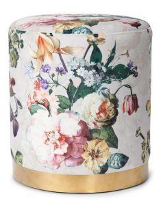 ESSENZA Fleur Grau Samthocker 40 x 40 x 43 cm