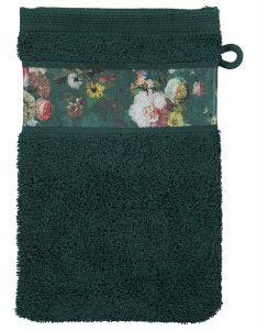 ESSENZA Fleur Dunkelgrün Waschhandschuhe 16 x 22 cm