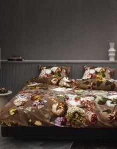 ESSENZA Fleurel Cafe Noir Dekbedovertrekset 200 x 220 cm