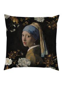 ESSENZA Floral Girl Zwart Sierkussen 50 x 50 cm