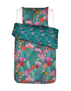 Covers & Co Flower Power Petrol Dekbedovertrekset 140 x 220 cm