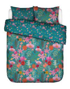 Covers & Co Flower Power Petrol Dekbedovertrekset 200 x 220 cm
