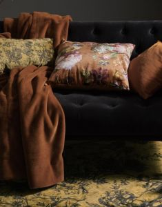 ESSENZA Furry Leather Brown Plaid 150 x 200 cm