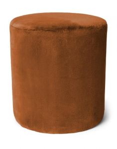 ESSENZA Furry Leather Brown Samthocker 40 x 40 x 43 cm