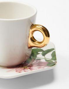 ESSENZA Gallery Off white Espresso kop & schotel 9 cl